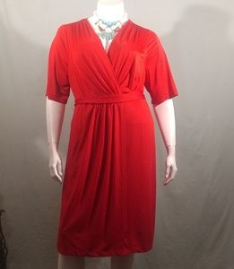 Lane Bryant Red Jersey Knit Dress Size 18/20